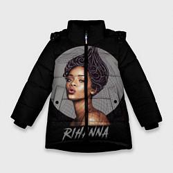 Куртка зимняя для девочки Rihanna цвета 3D-черный — фото 1