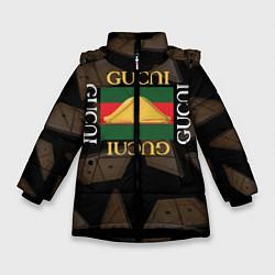 Куртка зимняя для девочки Gusli Gusli цвета 3D-черный — фото 1