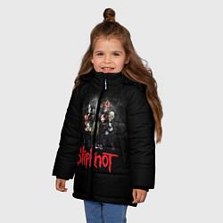 Куртка зимняя для девочки Slipknot Band цвета 3D-черный — фото 2