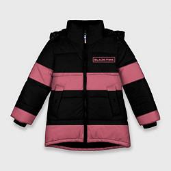 Куртка зимняя для девочки Black Pink: Logo цвета 3D-черный — фото 1
