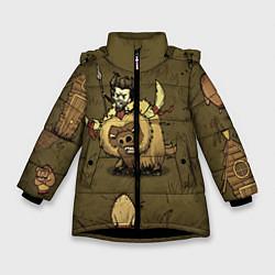 Куртка зимняя для девочки Wild Wilson цвета 3D-черный — фото 1