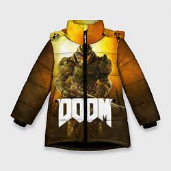 Куртка зимняя для девочки DOOM: Soldier цвета 3D-черный — фото 1