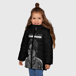Куртка зимняя для девочки Rise if The Tomb Raider цвета 3D-черный — фото 2