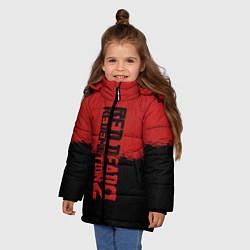Куртка зимняя для девочки RDD 2: Red & Black цвета 3D-черный — фото 2