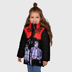 Куртка зимняя для девочки True Detective: Double Agents цвета 3D-черный — фото 2