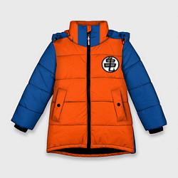 Куртка зимняя для девочки DBZ: Kame Senin Kanji Emblem цвета 3D-черный — фото 1