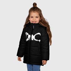 Куртка зимняя для девочки DMC цвета 3D-черный — фото 2