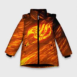 Куртка зимняя для девочки NATSU DRAGNEEL цвета 3D-черный — фото 1
