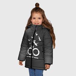 Куртка зимняя для девочки The 100 цвета 3D-черный — фото 2