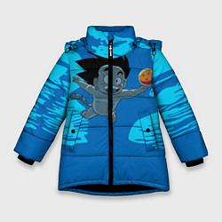 Куртка зимняя для девочки Smells Like: Dragon Ball Z цвета 3D-черный — фото 1