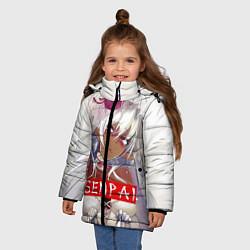 Куртка зимняя для девочки Senpai: White Girl цвета 3D-черный — фото 2