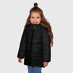 Куртка зимняя для девочки Карбоновая броня цвета 3D-черный — фото 2