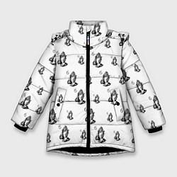 Куртка зимняя для девочки Drake - six цвета 3D-черный — фото 1
