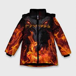 Куртка зимняя для девочки TES: Flame Wolf цвета 3D-черный — фото 1
