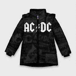 Куртка зимняя для девочки AC/DC: Black Rock цвета 3D-черный — фото 1