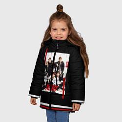 Куртка зимняя для девочки IKON Band цвета 3D-черный — фото 2