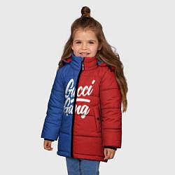 Куртка зимняя для девочки Gucci Gang: Blue & Red цвета 3D-черный — фото 2
