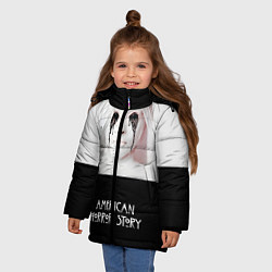 Куртка зимняя для девочки American Horror Story цвета 3D-черный — фото 2