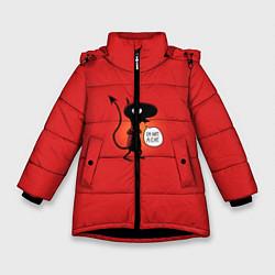 Куртка зимняя для девочки Disenchantment: I'm not a Cat цвета 3D-черный — фото 1