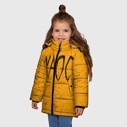 Куртка зимняя для девочки GONE Fludd ХАОС цвета 3D-черный — фото 2