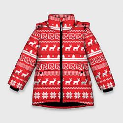 Куртка зимняя для девочки Roblox: NY Pattern цвета 3D-черный — фото 1