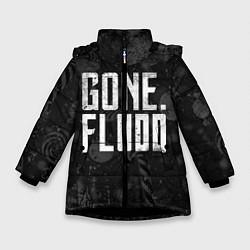 Куртка зимняя для девочки GONE Fludd Dark цвета 3D-черный — фото 1