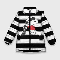 Куртка зимняя для девочки Vans Doggy цвета 3D-черный — фото 1