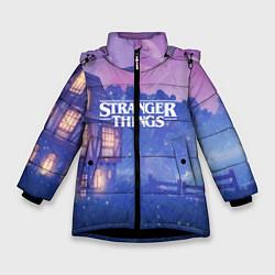 Куртка зимняя для девочки Stranger Things: Magic House цвета 3D-черный — фото 1