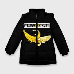 Детская зимняя куртка для девочки с принтом Brazzers: Black Banana, цвет: 3D-черный, артикул: 10167454706065 — фото 1