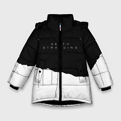 Куртка зимняя для девочки Death Stranding: Black & White цвета 3D-черный — фото 1