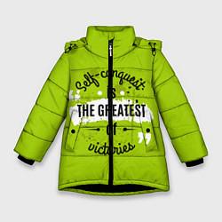 Куртка зимняя для девочки The greatest цвета 3D-черный — фото 1