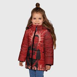 Куртка зимняя для девочки Ghostemane Hexada цвета 3D-черный — фото 2