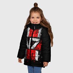 Куртка зимняя для девочки Mass Effect N7 цвета 3D-черный — фото 2