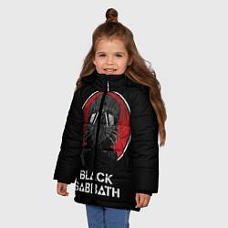 Детская зимняя куртка для девочки с принтом Black Sabbath: The Dio Years, цвет: 3D-черный, артикул: 10170543706065 — фото 2
