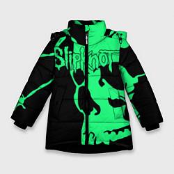 Куртка зимняя для девочки Slipknot: Acid Skull цвета 3D-черный — фото 1