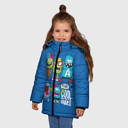 Куртка зимняя для девочки Cool Dudes цвета 3D-черный — фото 2