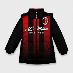 Куртка зимняя для девочки AC Milan цвета 3D-черный — фото 1