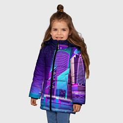 Куртка зимняя для девочки Neon Nights цвета 3D-черный — фото 2