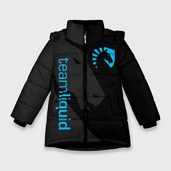 Детская зимняя куртка для девочки с принтом TEAM LIQUID, цвет: 3D-черный, артикул: 10172456706065 — фото 1