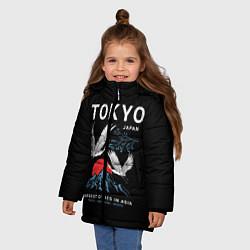 Детская зимняя куртка для девочки с принтом Tokyo, цвет: 3D-черный, артикул: 10172524706065 — фото 2