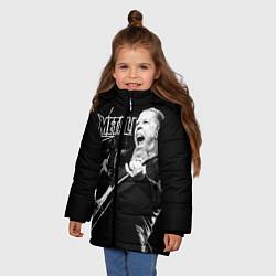 Куртка зимняя для девочки Metallica цвета 3D-черный — фото 2