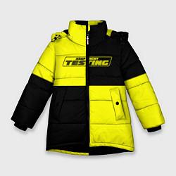 Куртка зимняя для девочки Testing ASAP Rocky цвета 3D-черный — фото 1