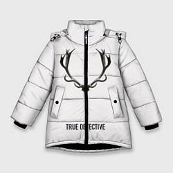 Куртка зимняя для девочки True Detective цвета 3D-черный — фото 1