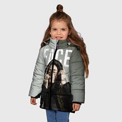 Куртка зимняя для девочки FACE: Slime цвета 3D-черный — фото 2
