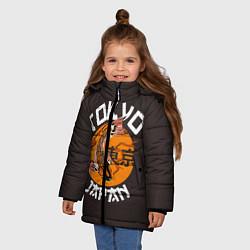Куртка зимняя для девочки Tokyo, Japan цвета 3D-черный — фото 2