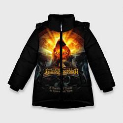 Куртка зимняя для девочки Blind Guardian: Guide to Space цвета 3D-черный — фото 1