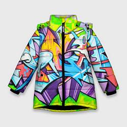 Зимняя куртка для девочки Неоновая кислота