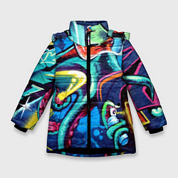 Куртка зимняя для девочки Street Fashion цвета 3D-черный — фото 1