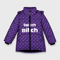 Куртка зимняя для девочки Twitch Bitch цвета 3D-черный — фото 1