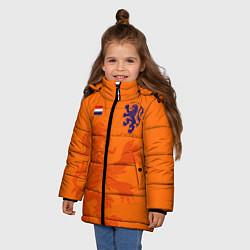 Куртка зимняя для девочки Сборная Голландии цвета 3D-черный — фото 2
